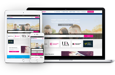 university compare website mobile app