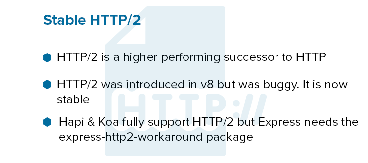 Stable HTTP/2