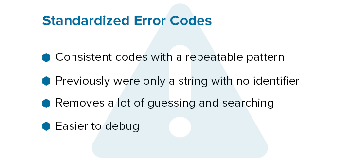 Standardized Error Codes