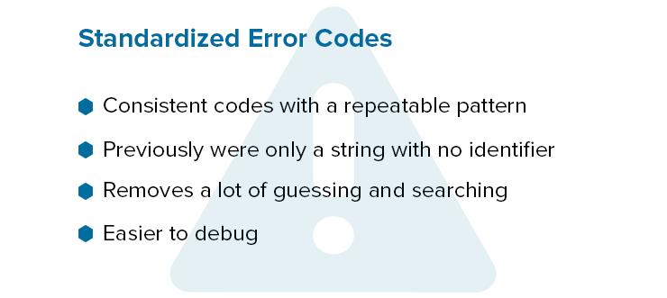 Standardized Error Codes