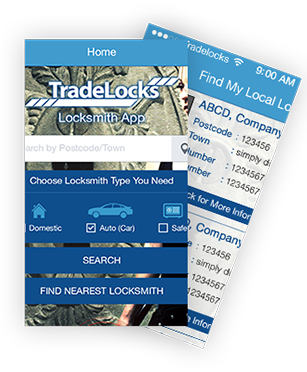 Tradelocks Locksith mobile app
